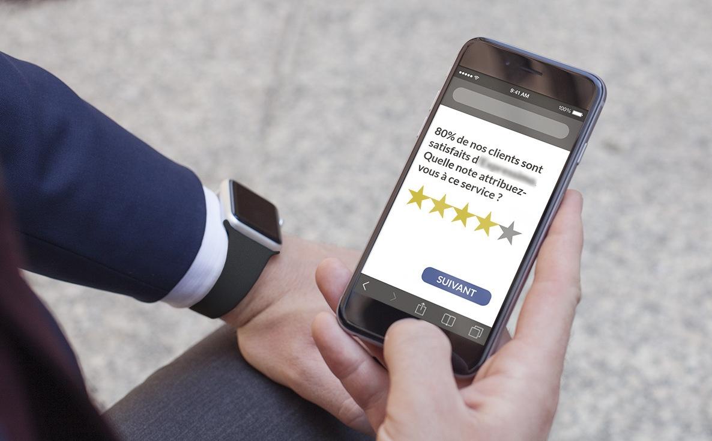 80% de nos clients sont satisfaits. Quelle note attribuez-vous à ce service ?